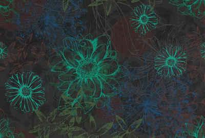 Architects Paper Fototapete »Atelier 47 Flower Artwork 2«, glatt, floral, (4 St)