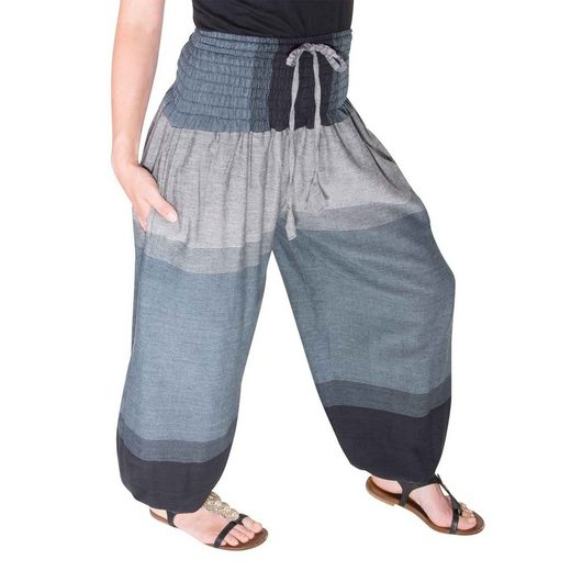 KUNST UND MAGIE Haremshose »KUNST UND MAGIE Damen bunt one size Boho Yoga Pumphose Sommerhose Pluderhose«