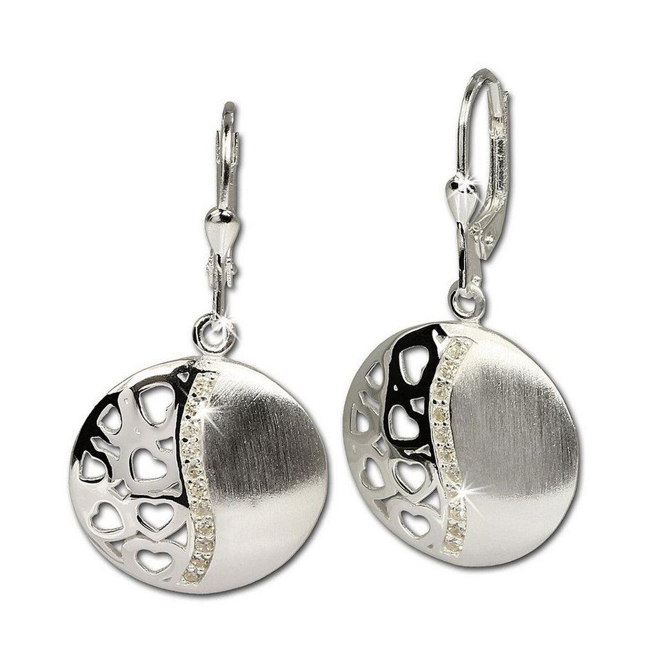 Geschenk Silber vergoldet Ohrringe DunkelViolett aus MuschelkernPerlen Tropfen