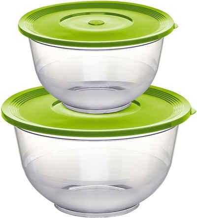 Emsa Salatschüssel »Superline 514563«, Kunststoff, (Set, 2-tlg), 2 und 3,5 Liter, zum Frischhalten und Transportieren