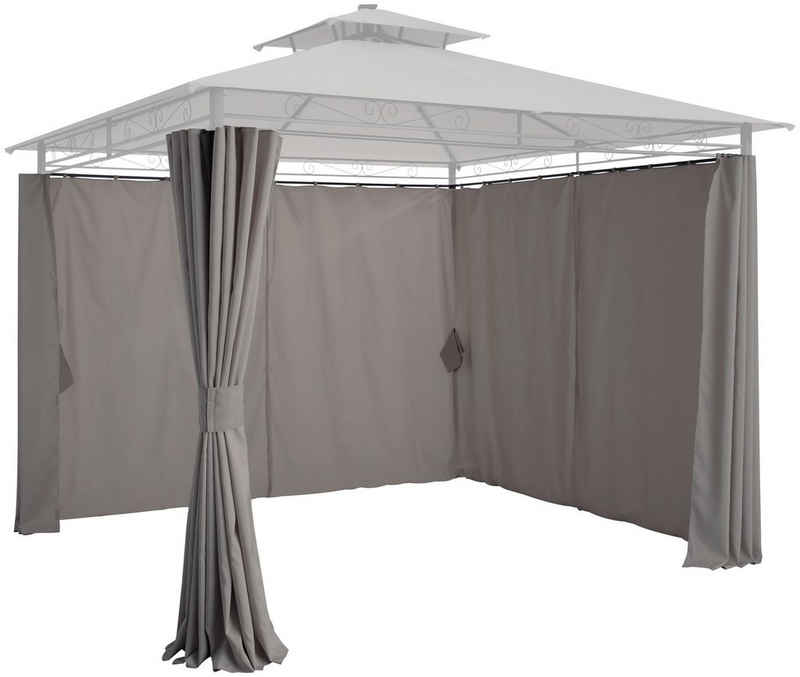 KONIFERA Pavillonseitenteile »Palma«, mit 4 Seitenteilen, für 300x300 cm