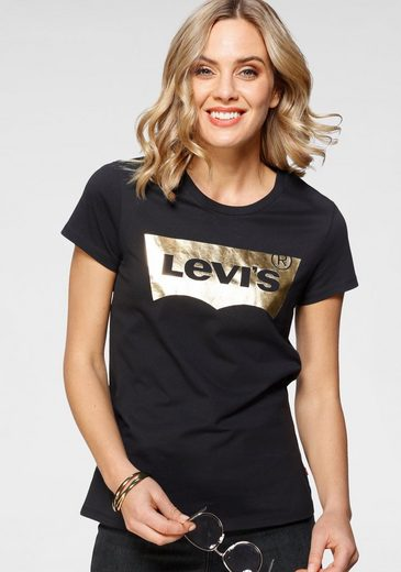 Levi's® T-Shirt »Batwing« mit Logo - Glitzerprint