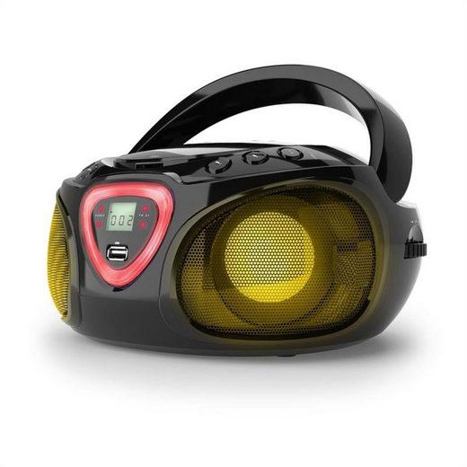 Auna »Roadie Boombox CD USB MP3 MW/UKW-Radio Bluetooth 2.1 LED-Farbspiel schwarz« Radio (MW/UKW-Radio, 0 W)