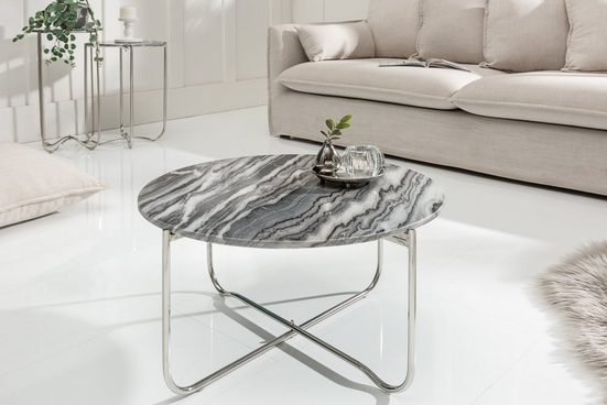 riess-ambiente Couchtisch »NOBLE 62cm grau«, mit abnehmbarer Marmor-Platte