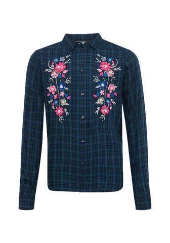 Блузка »клетчатый блуза с Blumen...