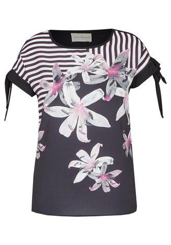 VIA APPIA Subtilus Marškinėliai su Front-Print