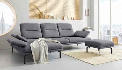 Places of Style Ecksofa »Cervo«, Ecksofa, mit Sitztiefen- und Kopfteilverstellung, wahlweise mit Armteilverstellung in hochwertiger Verarbeitung