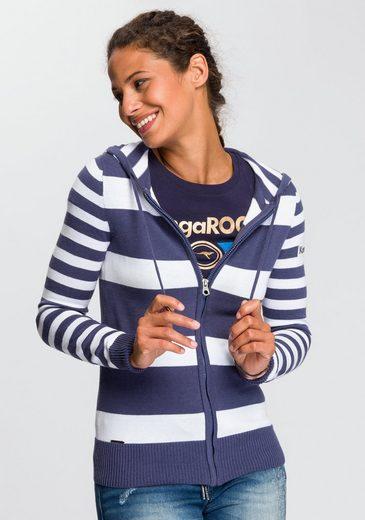 KangaROOS Kapuzenstrickjacke in trendigem Streifendesign