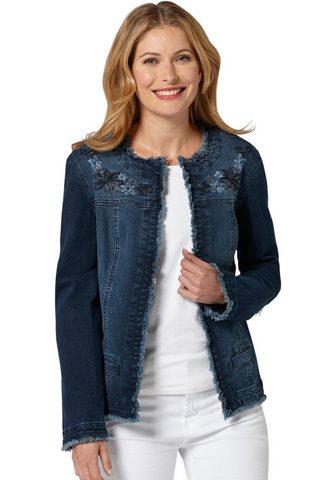Куртка джинсовая с gestickten Blü...