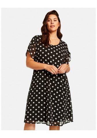 SAMOON Suknelė trikotažinis »Chiffon-Kleid su...