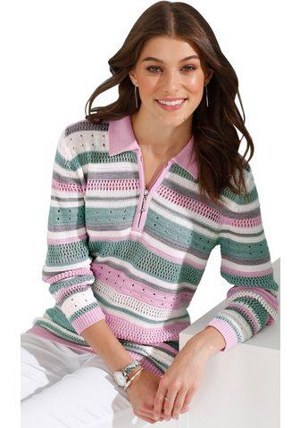 Пуловер с mehrfarbigen Streifen-Muster...