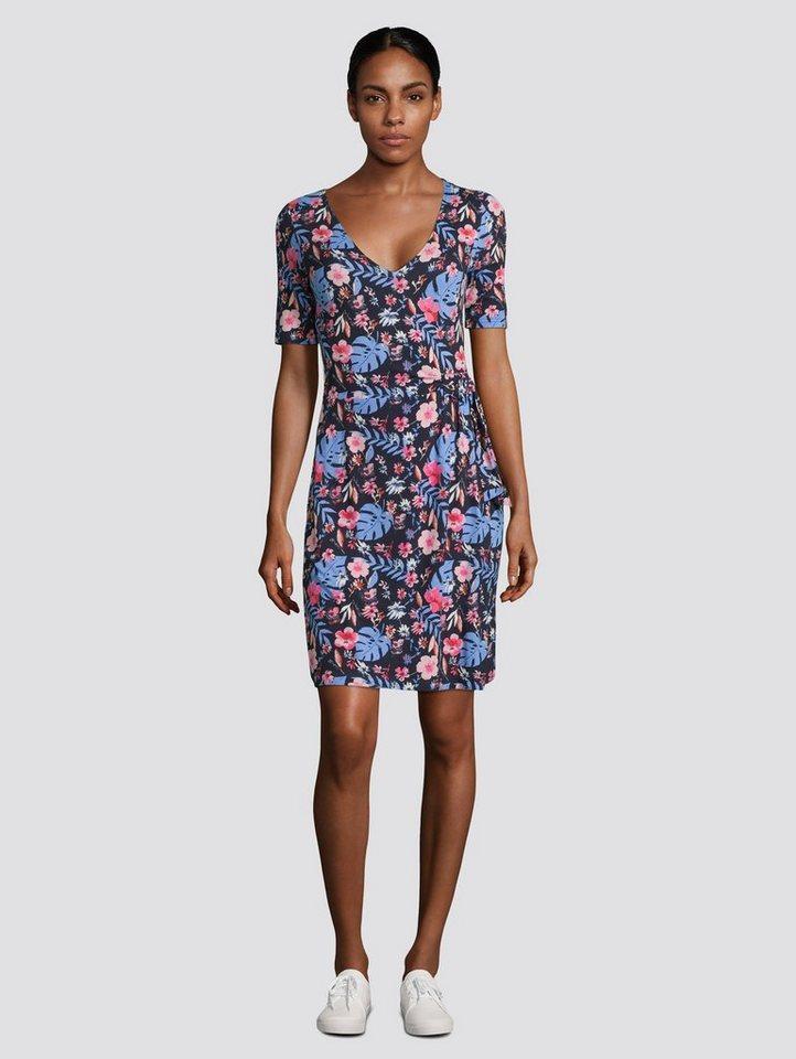 tom tailor -  Jerseykleid »Jerseykleid mit Blumenprint und Knotendetail«