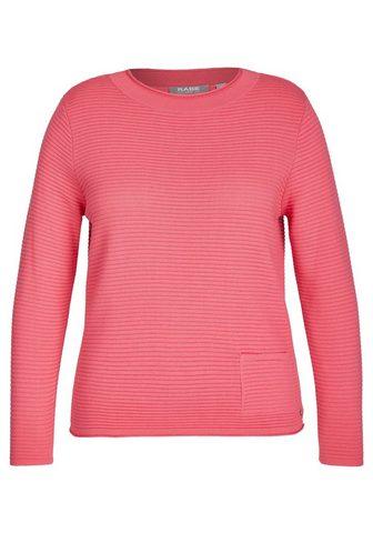 Пуловер с unifarbigem Design и Rippstr...
