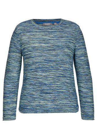 Пуловер в melierter имитация с футболк...