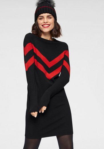 Tamaris Strickkleid mit Streifen-Muster