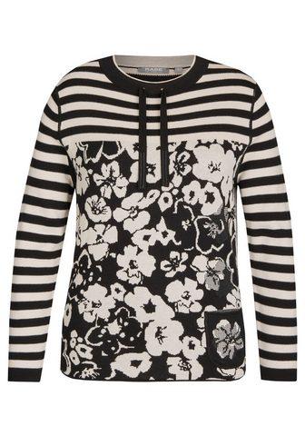 Пуловер с Ringeln и c цветочным узором...