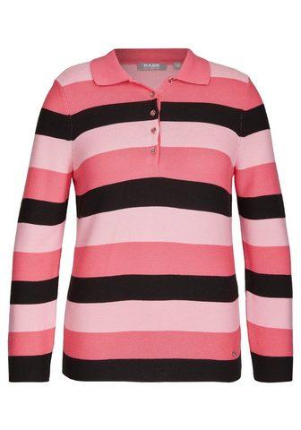 Пуловер с воротник поло и блестящий пу...