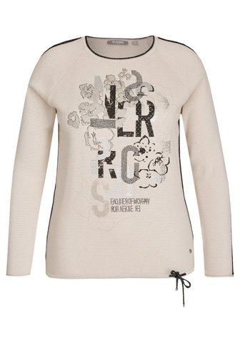 Пуловер с Lettern и цветочным узором