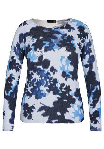 Пуловер с узор и блестящие камешки