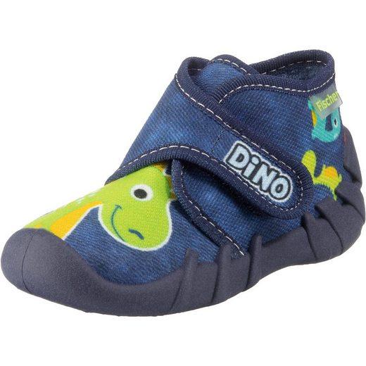 Fischer-Markenschuh Baby Hausschuhe für Jungen, Dino