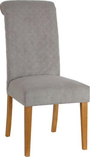 Home affaire Esszimmerstuhl »Rysum« (Set), 2er-Set, mit gepolsteter Sitzfläche, und gesteppter Rückenlehne