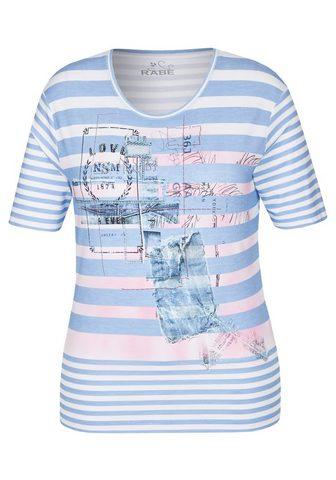 RABE Marškinėliai su Allover-Ringeln ir Pri...