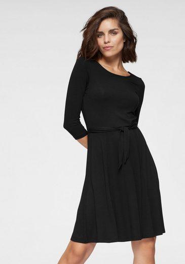 Tamaris Jerseykleid mit Bindegürtel