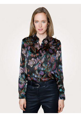 Блузка из шелка с цветочный узор