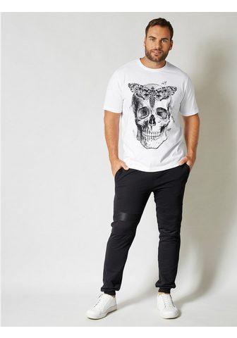 MEN PLUS BY HAPPY SIZE Marškinėliai su großem Totenkopf rašta...