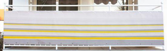 Angerer Freizeitmöbel Balkonsichtschutz »Nr. 600« Meterware, gelb/grau, H: 75 cm