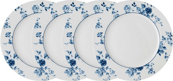 LAURA ASHLEY BLUEPRINT COLLECTABLES Speiseteller »China Rose«, (4 Stück), Porzellan, 26 cm