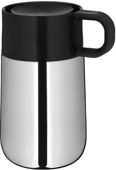 WMF Coffee-to-go-Becher »Impulse«, Cromargan® Edelstahl Rostfrei 18/10, Kunststoff, Silikon, Coffee to go Becher mit Automatikverschluss