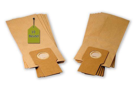 eVendix Staubsaugerbeutel Staubsaugerbeutel ähnlich Menalux 2750 P, 10 Staubbeutel + 2 Mikro-Filter + 2 Motor-Filter, passend für Menalux