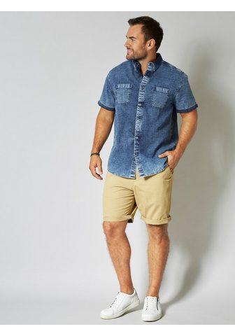 MEN PLUS BY HAPPY SIZE Trumpomis rankovėmis džinsiniai marški...