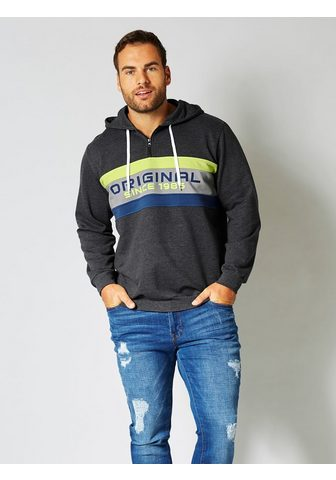 MEN PLUS BY HAPPY SIZE Sportinis megztinis su gobtuvu su kont...
