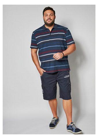 MEN PLUS BY HAPPY SIZE Polo marškinėliai su Streifendesign