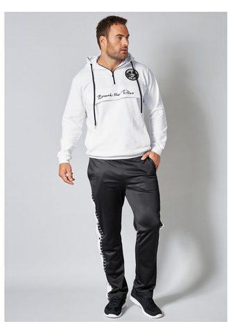 MEN PLUS BY HAPPY SIZE Sportinis megztinis su gobtuvu iš gryn...