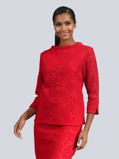 Alba Moda Shirt aus strukturiertem Material