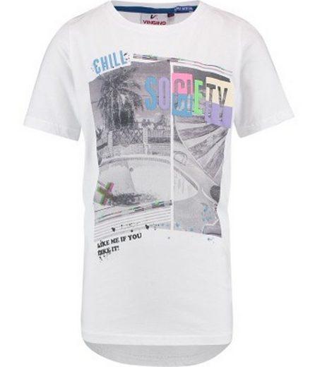 Vingino T-Shirt »VINGINO T-Shirt lässiges Kinder Rundhals-Shirt mit coolem Print Freizeit-Shirt Weiß«