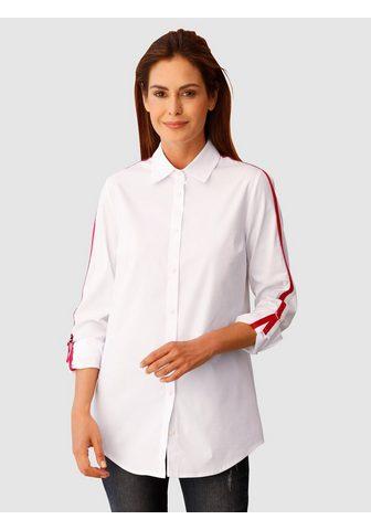 LAURA KENT Ilgi marškiniai su kontrastingas Ripsb...