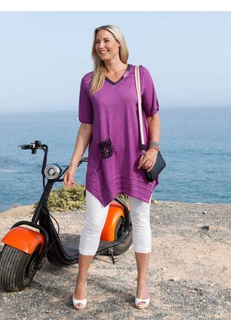 Блузка в видимый Tертой ткани стиль