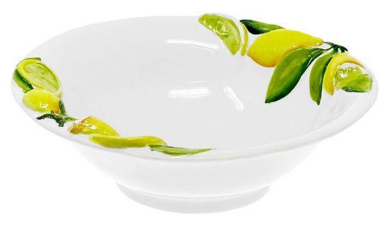 Lashuma Obstschale »Zitrone«, Keramik, Italienische Keramikschale, Servierschüssel Ø 26 cm