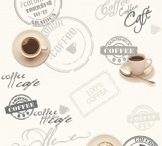 A.S. Création Schaumtapete »Il Decoro Kaffee«, aufgeschäumt, Motiv