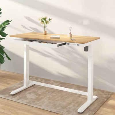 FLEXISPOT Schreibtisch »Comhar«, Elektrisch Höhenverstellbarer Schreibtisch inkl. Tischplatte mit Touch Funktion & USB, Kindersicherung-System, 120 x 60cm, Schwarz oder Weiß
