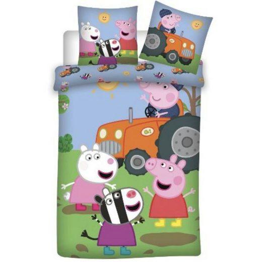 Babybettwäsche »Friends and Family«, Peppa Pig, 100x135 40x60 cm, 100% baumwolle