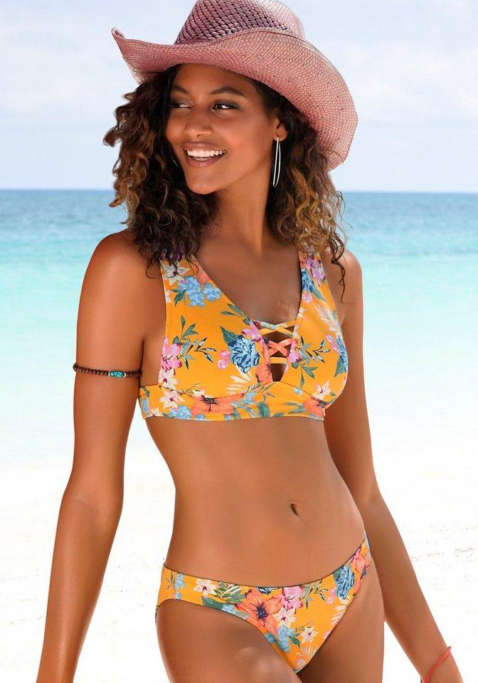 Bademode - Bench. Triangel Bikini Top »Maui«, mit Zierschnürung am Ausschnitt ›  - Onlineshop OTTO