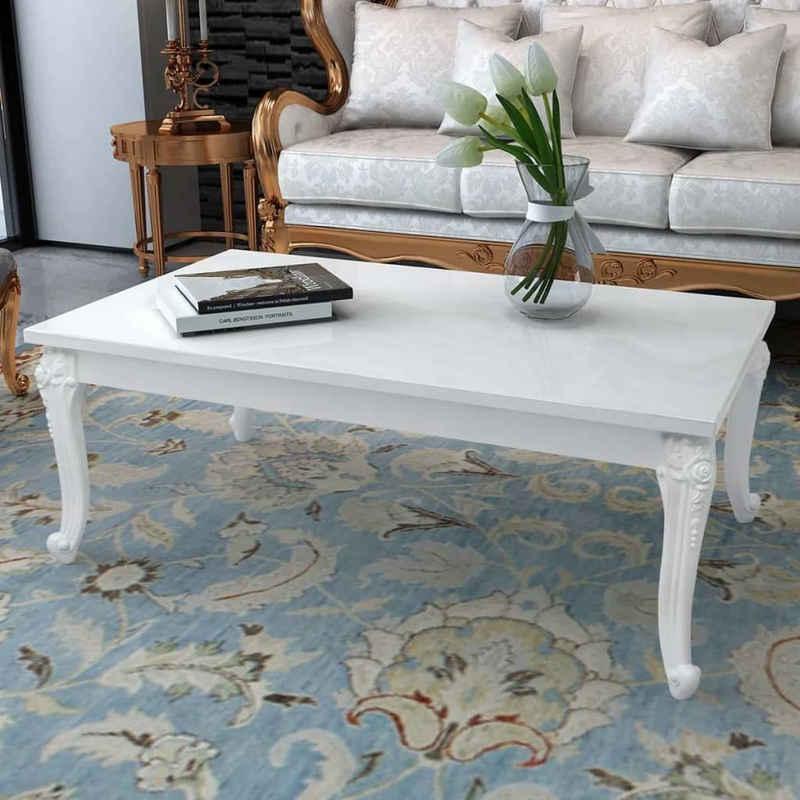 vidaXL Couchtisch »vidaXL Couchtisch 115×65×42 cm Hochglanz-Weiß«