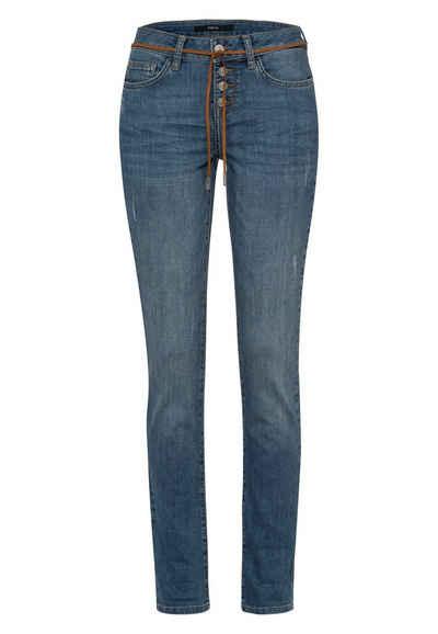 Zero 5-Pocket-Jeans »Seattle Slim Fit 32 Inch« Bindedetail
