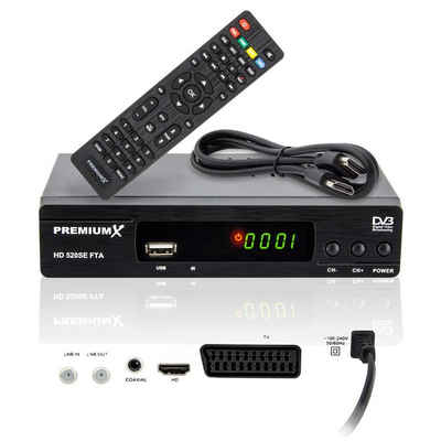 PremiumX »HD 520SE FTA Digital Satelliten-Receiver DVB-S2 HDMI SCART USB FullHD« SAT-Receiver