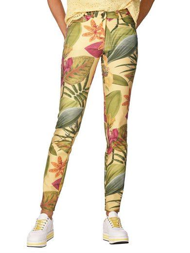 Amy Vermont Jeans in floralem Druck